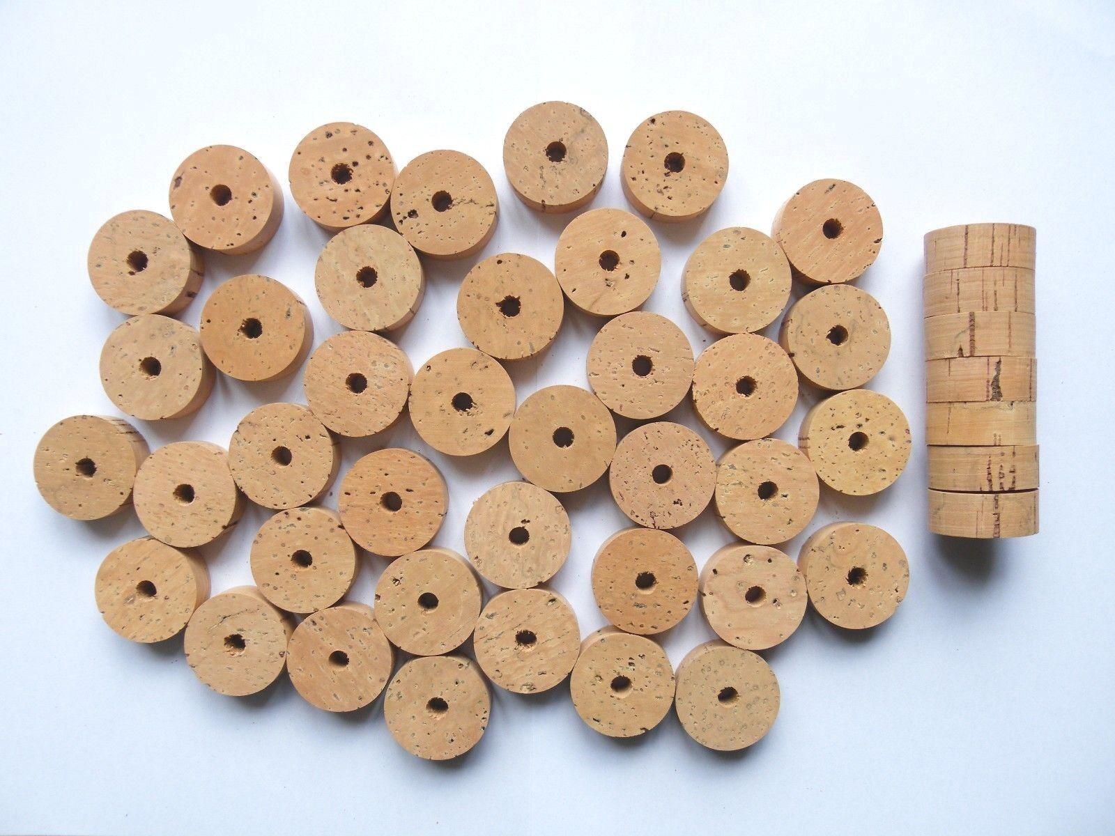 100 Anillos de corcho de grado extra de diámetro de 11 4 X1 2  1 4