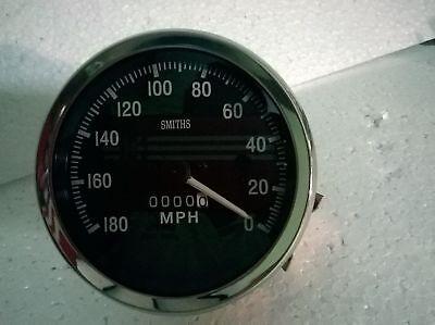 Anti Clock wise Tachometer 80 mm fitment M18x1.5 thread Replica Smiths speedex