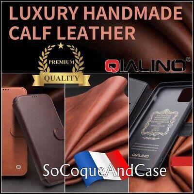 Custodia Portafoglio Qialino Classic in Pelle per iPhone XS Max