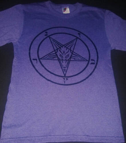 PENTAGRAM T Shirt Heather Purple satanic clothing satanism gothic horror S-XL
