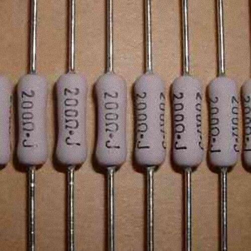 Lot of 10 Metal Film Resistor 200 Ohms 2 Watts 2W 5%