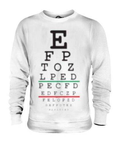 Borroso Ojos Test Gráfica Unisex Divertido Suéter Regalo Broma Manga Larga