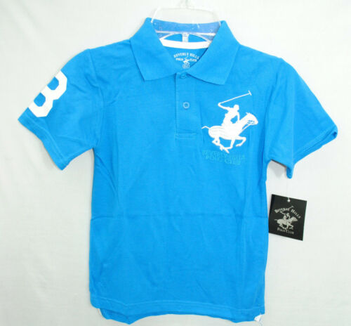 NWT BEVERLY HILLS POLO CLUB boys CLASSIC POLO color BLUE  size S-L