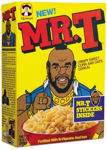 Mr T # 10-8 x 10 Tee Shirt Iron On Transfer cereal