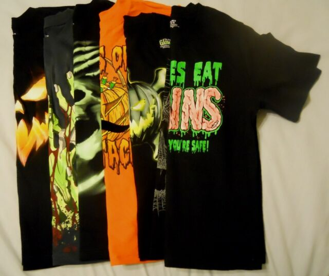Spooky Halloween Scene Glow In The Dark Pumpkin Womens T-Shirt 12 Colours