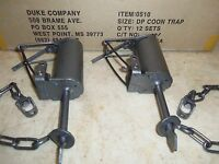 2 Duke Dp Dog Proof Coon Traps 0510 Lil Griz Type Trapping Raccoon