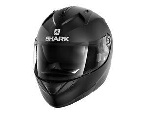 Shark RIDILL Blank Mat Integralhelm Schwarz Matt Motorradhelm Gr. S M L XL