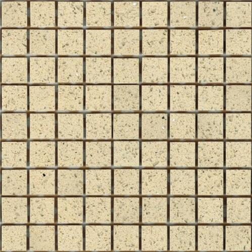 SAMPLE of Cream Starlight Stardust Quartz Mosaics Sheet Tile Splashback