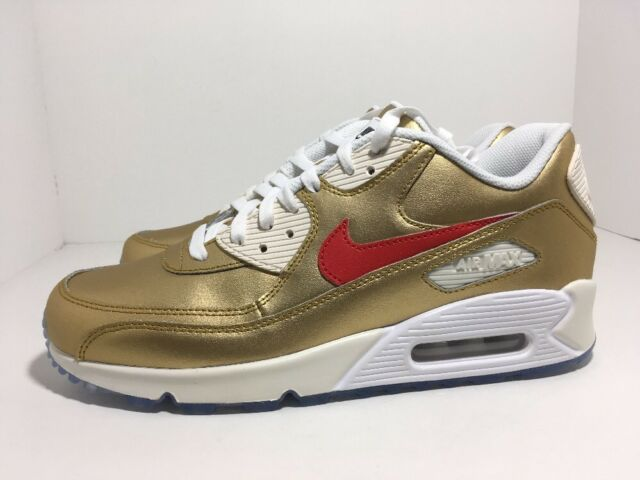 half off fe449 8692b Nike Air Max 90 ID Gold Sail 931902-994 Men s Shoes Size 10