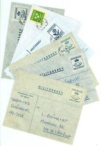 Sweden-V29-Military-mail-Cover-6-pcs-used