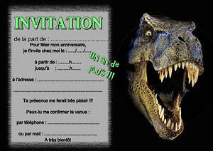 5 ou 12 cartes invitation anniversaire dinosaure t rex ref 391 ebay. Black Bedroom Furniture Sets. Home Design Ideas