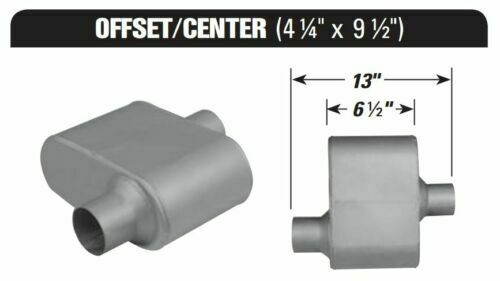 AP Exhaust VR7431 Xlerator VR Performance O//C 13 Muffler with 2.25 IN//OUT