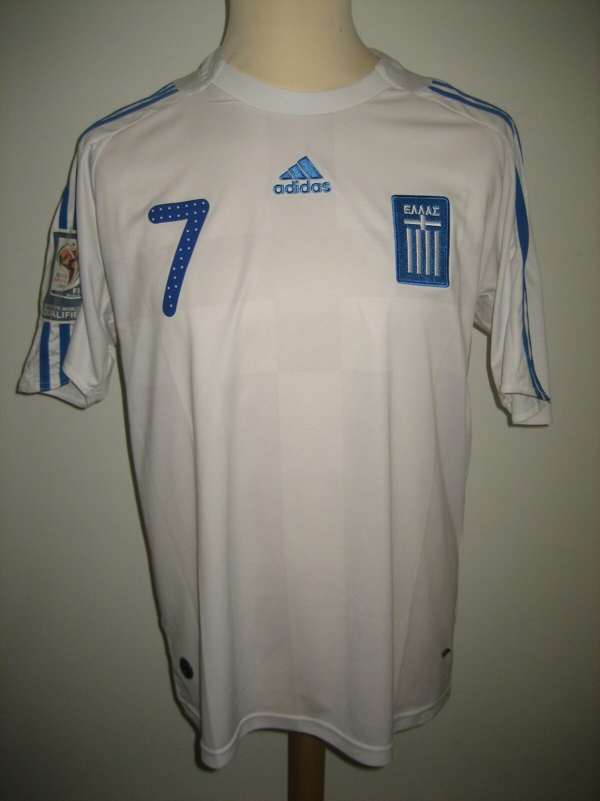 Greece SAMARAS home WC2010 football shirt soccer jersey maillot trikot size M
