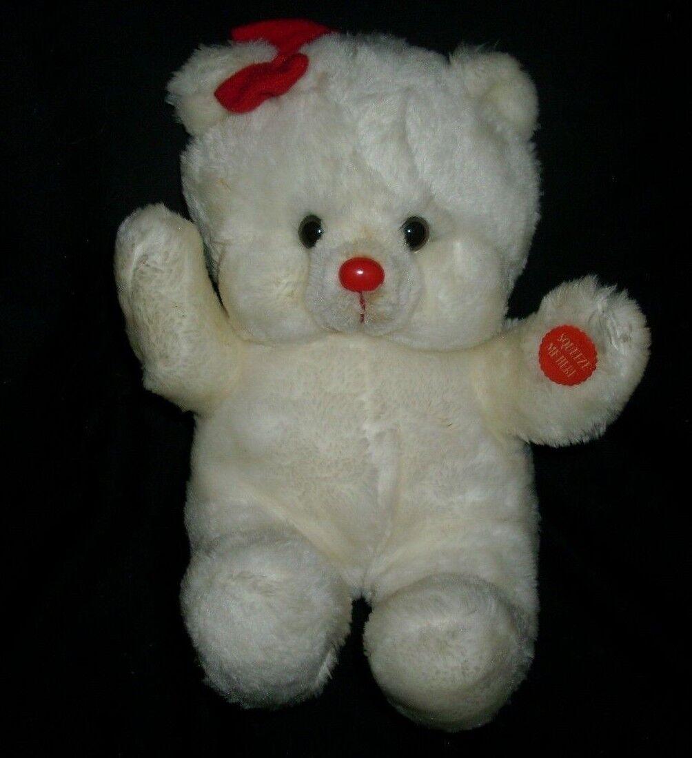 Vintage Spielzeug Musical Lichter Weihnachten Teddybär Plüschtier