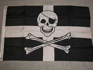 CORNISH PIRATE STPIRANS FLAG 3 X 2 BNIP - <span itemprop='availableAtOrFrom'>WEST SUSSEX, United Kingdom</span> - CORNISH PIRATE STPIRANS FLAG 3 X 2 BNIP - WEST SUSSEX, United Kingdom