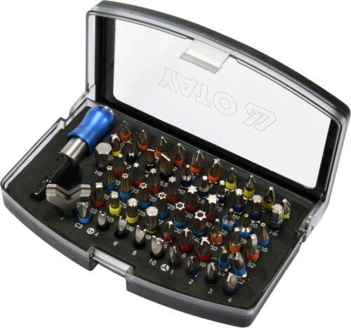Magnetbithalter Bit-Set 59-Tlg. Schraubendreher Box Bitsatz Inkl
