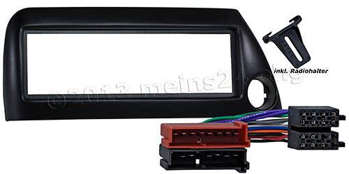 Radio diafragma para ford ka negro instalación marco adaptador cable radio DIN ISO