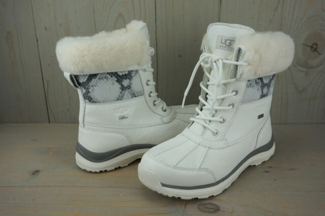 2428cdf320c UGG Adirondack III Snake Waterproof White Winter BOOTS Womens US 10