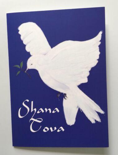 Happy Rosh Hashanah Card Jewish New Year Shanah Tovah White Dove of Peace Theme
