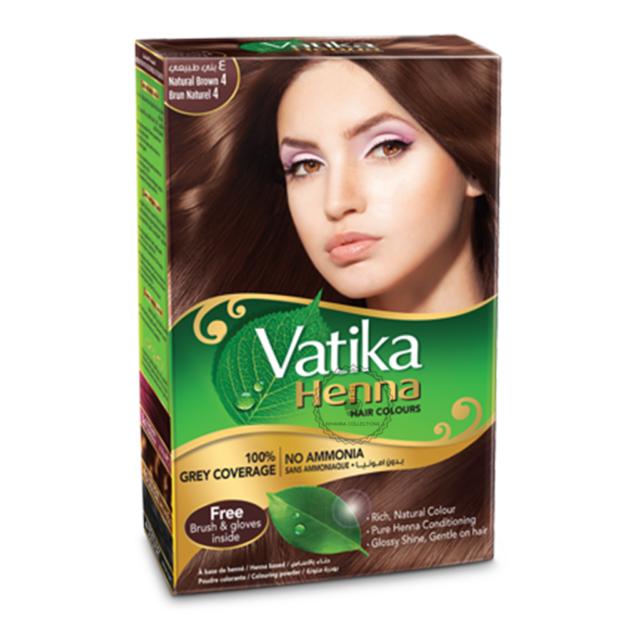 Dabur Vatika Natural Brown Henna Hair Colour Powder No Ammonia