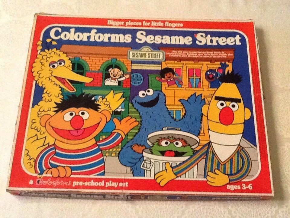 99% Complete - 1977 colorforms CTW Sesame Street - Hooper's Store - Used Vintage