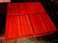 Four Kiln Dried Exotic Padauk Bowl Blanks Lumber Lathe 6 X 6 X 2