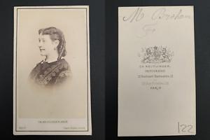Reutlinger-Paris-Madeleine-Brohan-actrice-Vintage-carte-de-visite-CDV-Mad