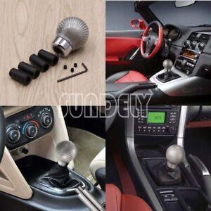 Silver-Carbon-Fiber-Universal-Manual-Transmission-Gear-Knob-Ball-Shifter