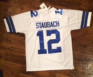 Image is loading NWT-Mitchell-amp-Ness-Roger-Staubach-Throwback-Jersey- 67e8af985