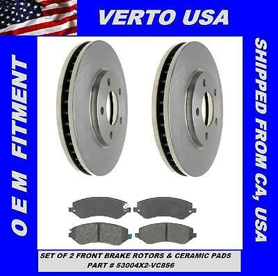 53004X2 Verto USA Set of 2 Front Rotors  Dodge Caravan