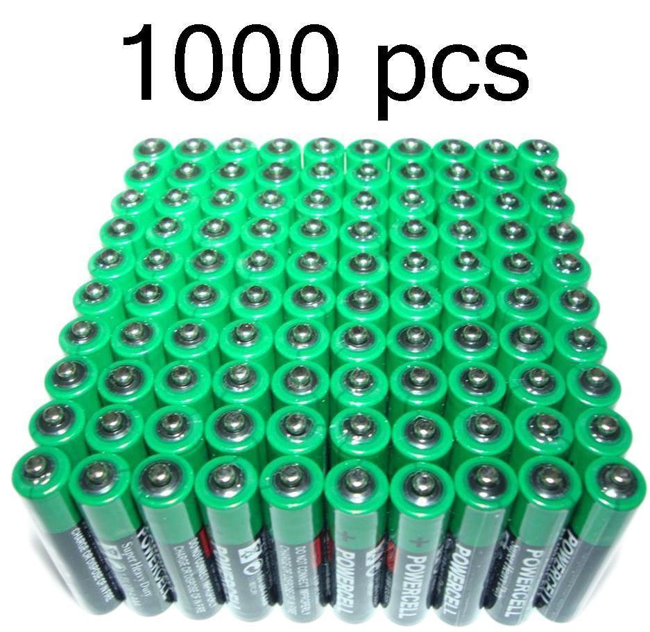 1000 x AAA Zinc Extra Heavy Duty Battery Powercell 1.5v Batteries Bulk Joblot