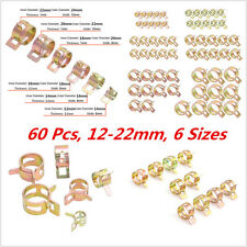 60xSpring Clip Fuel Oil Water Hose Pipe Tube Clamp Fastener 12-22mm 6Sizes Sales