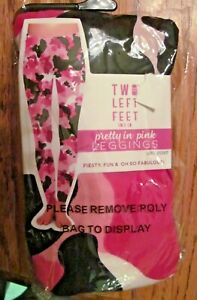 Two Left Feet Womens Pretty in Pink Energized Leggings L//XL Sizes 12-18 New