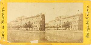 Francia-Parigi-Hotel-Da-La-Moneta-Foto-Stereo-Vintage-Albumina-PL62L5