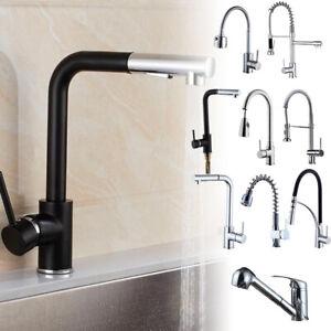 Edle Küchen Armatur Moderne Einhebel Mischbatterie für die Spüle in Chrom