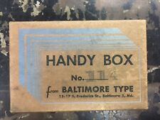 Letterpress Printing Metal Type Handybox No 114 Decorative Brackets