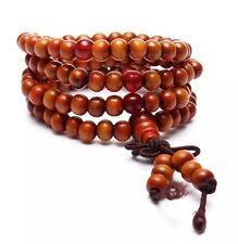 Tibetan Sandalwood Buddhist Prayer Beads Bracelet 108 Piece Orange 6mm US Seller