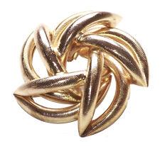 Cute Intertwined Golden Strands Star Easy Push down Pin Hook Brooch(B4/zx135)