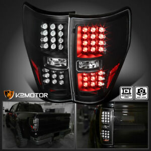 2009-2014-Ford-F150-Truck-STX-Fx4-Black-LED-Brake-Tail-Lights-Left-Right