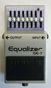 BOSS-GE-7-Equalizer-Guitar-Effects-Pedal-made-in-Japan-1984-213-Free-Shipping