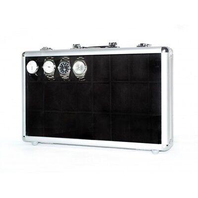 597012728 Vitrina caja maletin guarda 24 relojes en aluminio Black | Compra ...