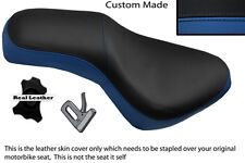 ROYAL BLUE AND BLACK CUSTOM FITS GILERA COUGAR 125  DUAL LEATHER SEAT COVER