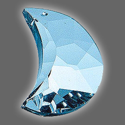 Feng Shui Kristall MOND Regenbogen Kristall glasklar Energie Kristall 30 mm
