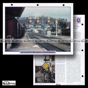#018.01 Fiche Train - Chemin De Fer Signalisation Mecanique : L'avertissement