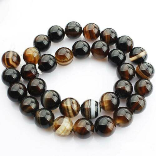 """15/"""" Strand Natural Brown Lace Agate Stone Gemstone Beads 4mm 6mm 8mm 10mm 12mm"""