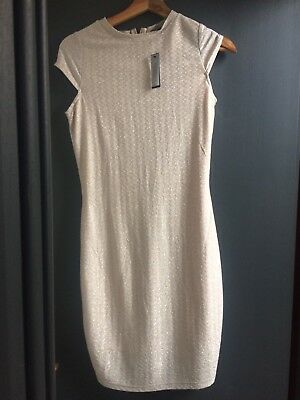 Brand New River Island Rose Gold Dress Size 8 Ebay