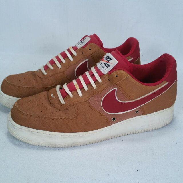 Nike Air Force 1 '07 Lv8 Low Basketball Shoe Tawny Brown Men's Sz 12 718152 206