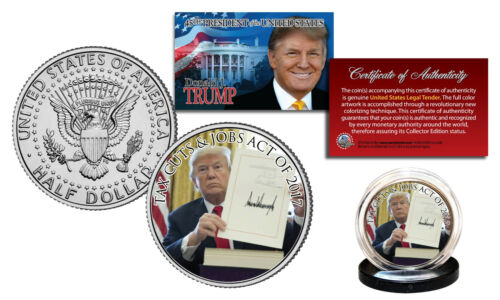 TRUMP 45th President Tax Cuts /& Jobs Act of 2017 Official JFK US Coin DONALD J