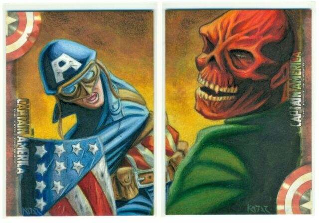 2011 UD RED SKULL CAPTAIN AMERICA THE FIRST AVENGER DUAL SKETCH CARD FRANK KADAR