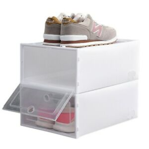 24Pcs Boîte à Chaussures Plastique Housse Tiroir Stockage Empilable Rangement